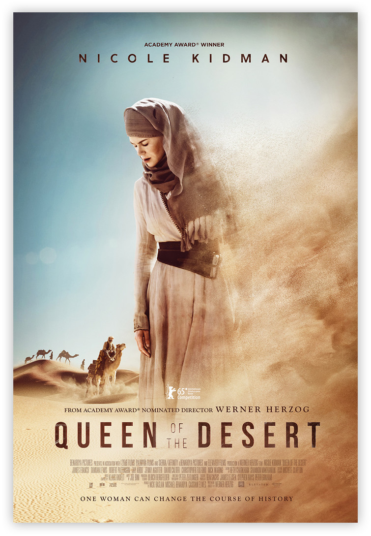 Official 'Queen of the Desert' Movie Poster